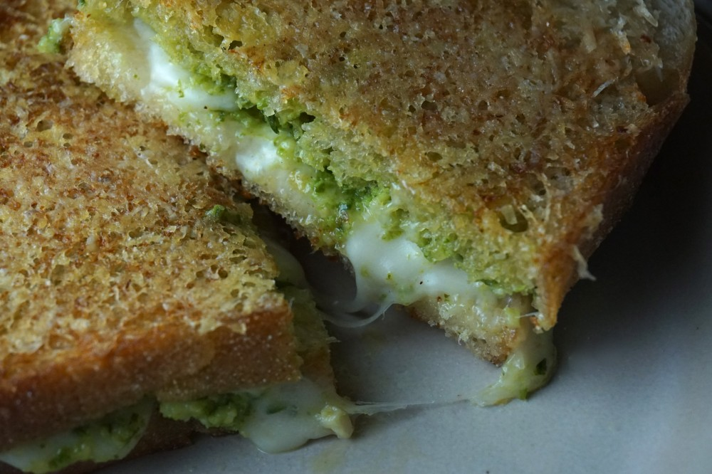 Parmesan Crusted Pesto Grilled Cheese Sandwich Recipes — Dishmaps