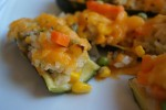 Rice and Veggie Stuffed Zucchini Boats