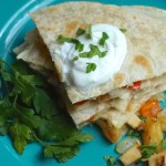 Warm Pineapple Chicken Quesadillas