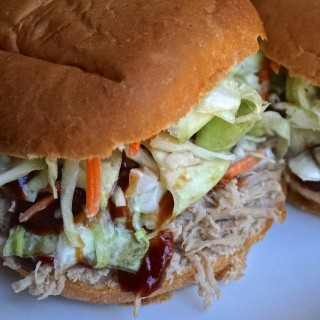 Pulled Pork Sandy with Bbq and Homemade Slaw