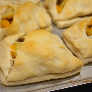 Butternut Squash, Apple and Sausage Turnovers