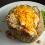 White Chili Stuffed Potatoes