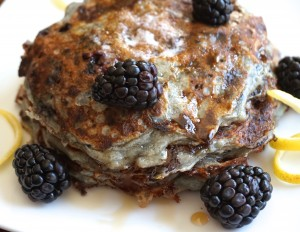 Nice Blackberry Lemon Cottage Cheese Pancakes